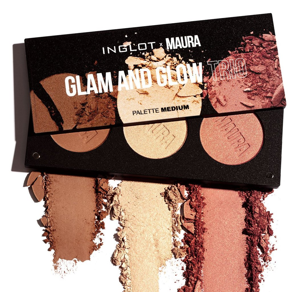 Inglot X Maura Collection Glam & Glow Trio Palette
